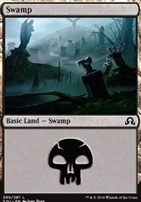Swamp (290) card from Shadows over Innistrad