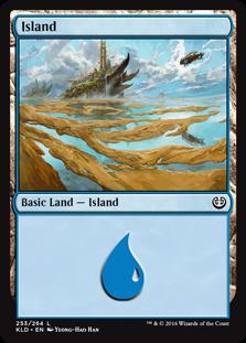 Island (253) card from Kaladesh